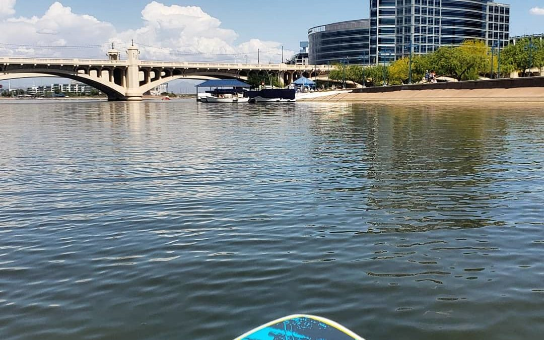 SUP from Marina on Tempe Town Lake in Tempe, Arizona